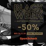 Black Week bei SportScheck mit 50% Rabatt auf ausgewählte Artikel!