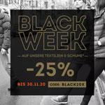 Black Week: Sicher dir bis zu 25% Extra Rabatt on Top auf Textilien und Schuhe bei Sportscheck