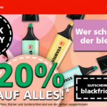 20% Preisnachlass auf alle Schreibgeräte & Zubehör im Online-Shop von STABILO