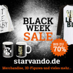 Der Starvando Black Week Sale 2016: Eine Woche lang bis zu unglaublichen 70% sparen!