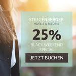 Steigenberger Black WEEKEND Special mit 25% Rabatt