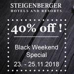 Steigenberger Hotels & Resorts: Black Weekend Special mit 40% Rabatt!