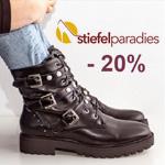 Spare 20% auf die neuesten Schuhe Trends bei Stiefelparadies.
