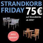 Spare nur heute 75,- € auf alle Strandkörbe ab 499 € im Store von Strandkorb & Co.