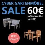 Spare nur heute 60 Euro auf neue Gartenmöbel im Online Shop von Strandkorb & Co.