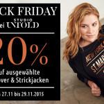 Black Friday bei Studio Untold. 20% Rabatt auf ausgewählte Pullover & Strickjacken!