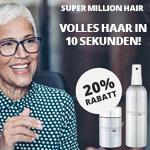 Super Million Hair – Volles Haar in 10 Sekunden – 20% Rabatt