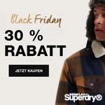 Sicher dir schon jetzt 30% Rabatt mit den ersten Black Friday Schnäppchen bei Superdry