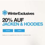 20% Rabatt auf Jacken und Hoodies im Online-Store von Superdry