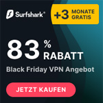 Black Friday VPN Angebot von Surfshark: 83% Rabatt plus 3 Monate gratis