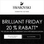 Sicher dir jetzt 20% Rabatt auf ausgewählte Artikel zum Brilliant Friday bei Swarovski
