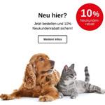 Erhalte 10% Rabatt auf deine Neukundenbestellung auf artgerechte Tiernahrung im Shop von Tackenberg