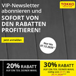 Jetzt den Takko Fashion VIP-Newsletter abonnieren und sofort sparen!