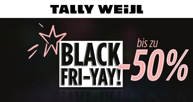 black fri yay bei tally weijl mit 50 rabatt black. Black Bedroom Furniture Sets. Home Design Ideas