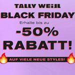 Feier den Black Friday bei Tally Weijl mit bis zu 50% Rabatt auf viele neue Styles