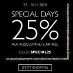 Special Days bei Tamaris: Bis zu 25% Rabatt auf ausgewählte Artikel