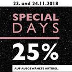 Special Days bei Tamaris – 25% Rabatt auf ausgewählte Schuhe, Taschen und Schmuck