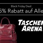 25% auf Alles! Taschen Arena reduziert zum Black Friday sämtliche Top Marken.