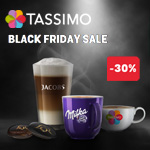 Tassimo Black Friday Sale mit 30% Rabatt