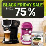 Black Friday Sale bei Tassimo mit bis zu 75% Rabatt auf deine Bestellung