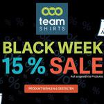 Black Week bei TeamShirts – 15% Rabatt auf ausgewählte Produkte!