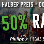 50% Rabatt und mehr für alle Fußballfans und Sneakerheads bei Teamsport Philipp