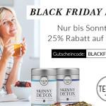Exklusiv zum Black Friday: 25% Rabatt auf das ganze TEATOX Sortiment