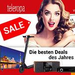 Bis zu 60% Rabatt auf zahlreiche Hersteller im Online Store von teleropa