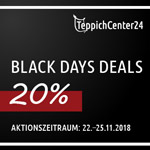 Black Days Deals bei Teppichcenter24 – 20% Rabatt auf alle Produkte!