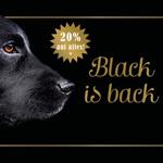 Black is back! 20% Rabatt auf das Sortiment an Hunde-Ernährung bei Terra Canis