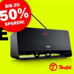Jetzt zugreifen und mit den XXL Rabatten bis zu 50% auf Audio Produkte von Teufel sparen!
