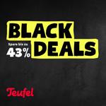 Spare jetzt bis zu 43% mit den soundstarken Angeboten zum Black Friday bei Teufel!