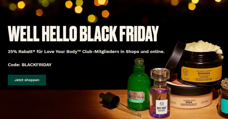 The Body Shop Black Friday 2020