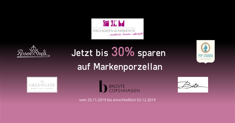Tischideen & Ambiente Black Friday 2019