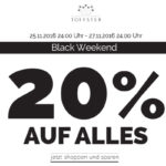 Ein Wochenende lang 20% Rabatt auf feinste Accessoires für das perfekte Outfit bei Toffster