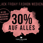 Großes Black Friday Fashion Weekend bei Tom Tailor – Spare jetzt bis zu 30% auf Alles*