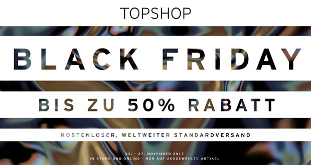 Topshop Black Friday 2017