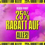 25% Rabatt auf alles – Sicher dir jetzt die Black Friday Deals bei Topshop