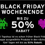 Topshops langes Black Friday Wochenende mit bis zu 50% Rabatt.
