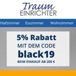 Black-Week bei Traumeinrichter.de – Sicher dir jetzt 5% Rabatt auf qualitative Wohnausstattung
