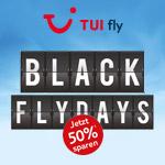 Ab in die Sonne mit 50% Rabatt auf deinen Flug mit den TUI Flydays