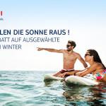 TUI holt die Sonne raus! Erhalte 100€ Rabatt auf ausgewählte Reisen im Winter!