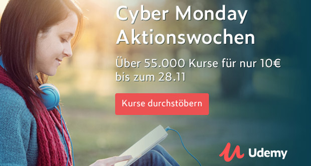 Udemy Cyber Monday Aktionswoche 2017