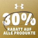 30% Rabatt auf alle Produkte bei Under Armour