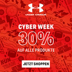 Cyber Week bei Under Armour – 30% Rabatt auf deine Bestellung