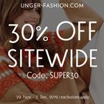 Hole dir jetzt deine Lieblings Luxusmarken mit 30% Rabatt im Store von Unger-Fashion