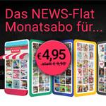 Teste jetzt das Monatsabo von United Kiosk NEWS und spare 50% auf deine Magazin-Flatrate