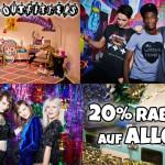 20% Rabatt auf ALLES bei Urban Outfitters!