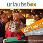 Geschenke zum vor Freude Strahlen – Jetzt 20% Rabatt auf tolle Kurzurlaube auf Urlaubsbox.de