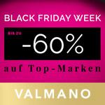 Spare bis zu 60% auf angesagte Schmuck- und Uhrenmarken in der BLACK FRIDAY WEEK bei VALMANO